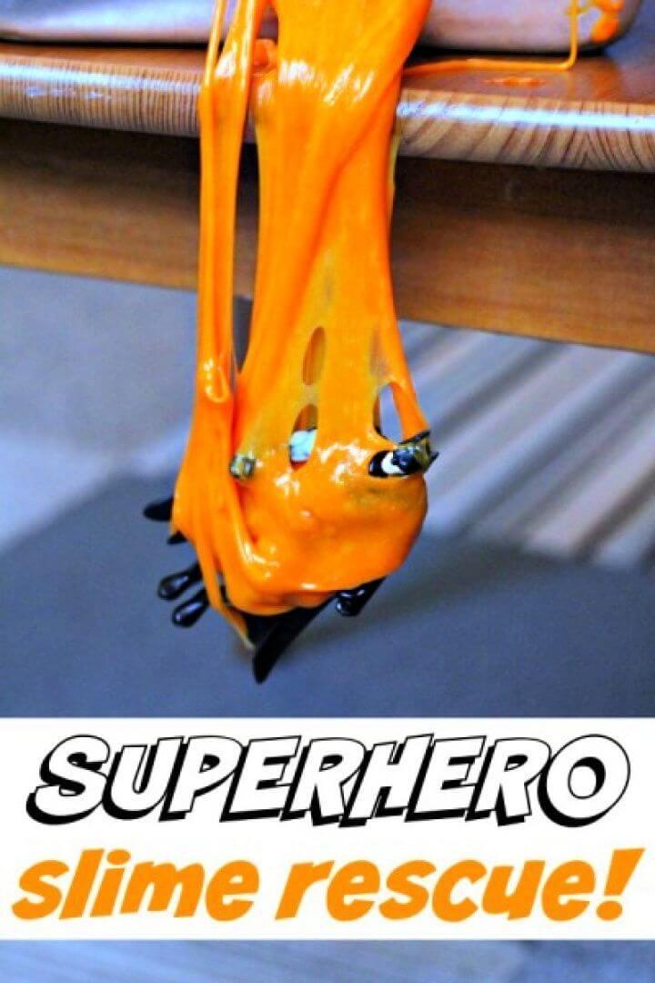 Simple DIY Superhero Slime Step By Step Tutorial