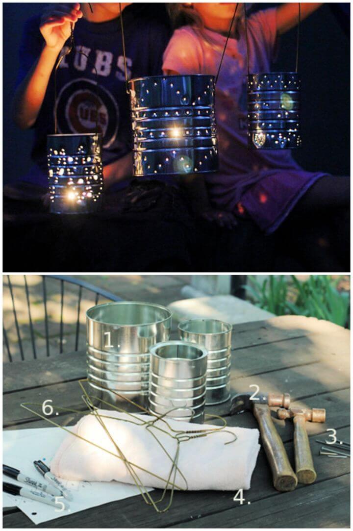 Simple DIY Tin Can Lanterns
