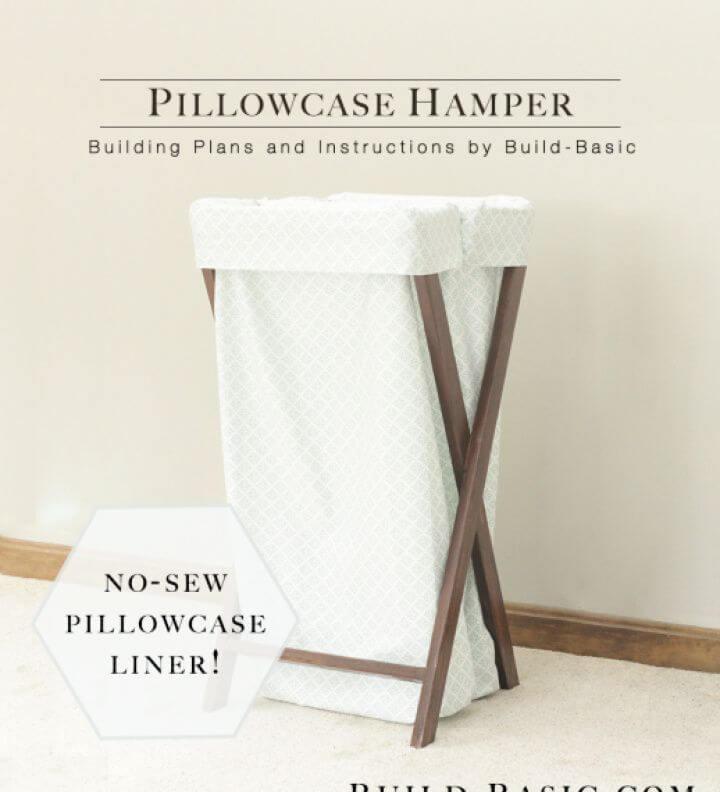 Simple DIY White Pillowcase Hamper