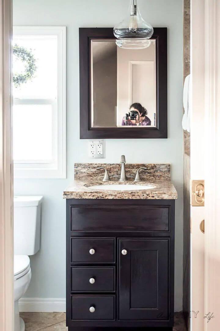 Small DIY Bathroom Remodel