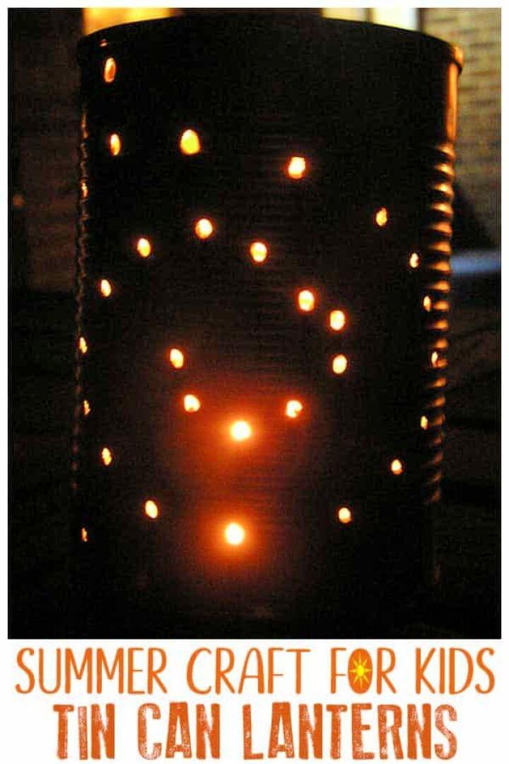 Summer Craft For Kids To Make DIY Tin Can Lanterns