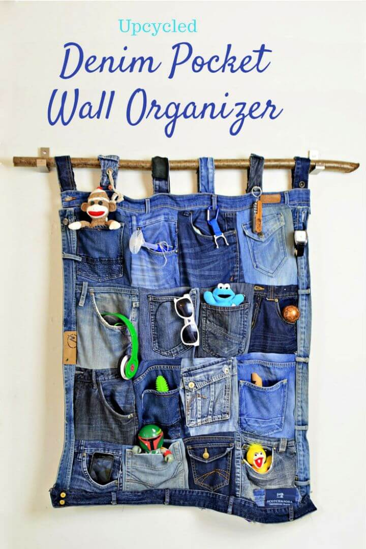 Upcycle Old Jeans Into A Great Denim Pocket Organizer