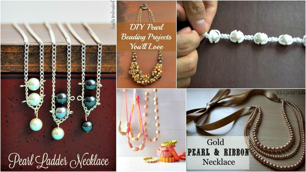 20 Diy Pearl Beads Craft Ideas Diy Jewelry Ideas