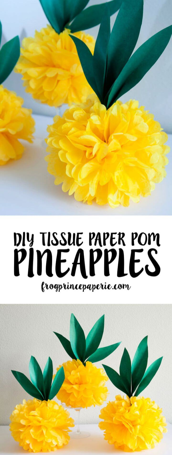 Adorable DIY Tissue Paper Pineapple Pouf Flamingo