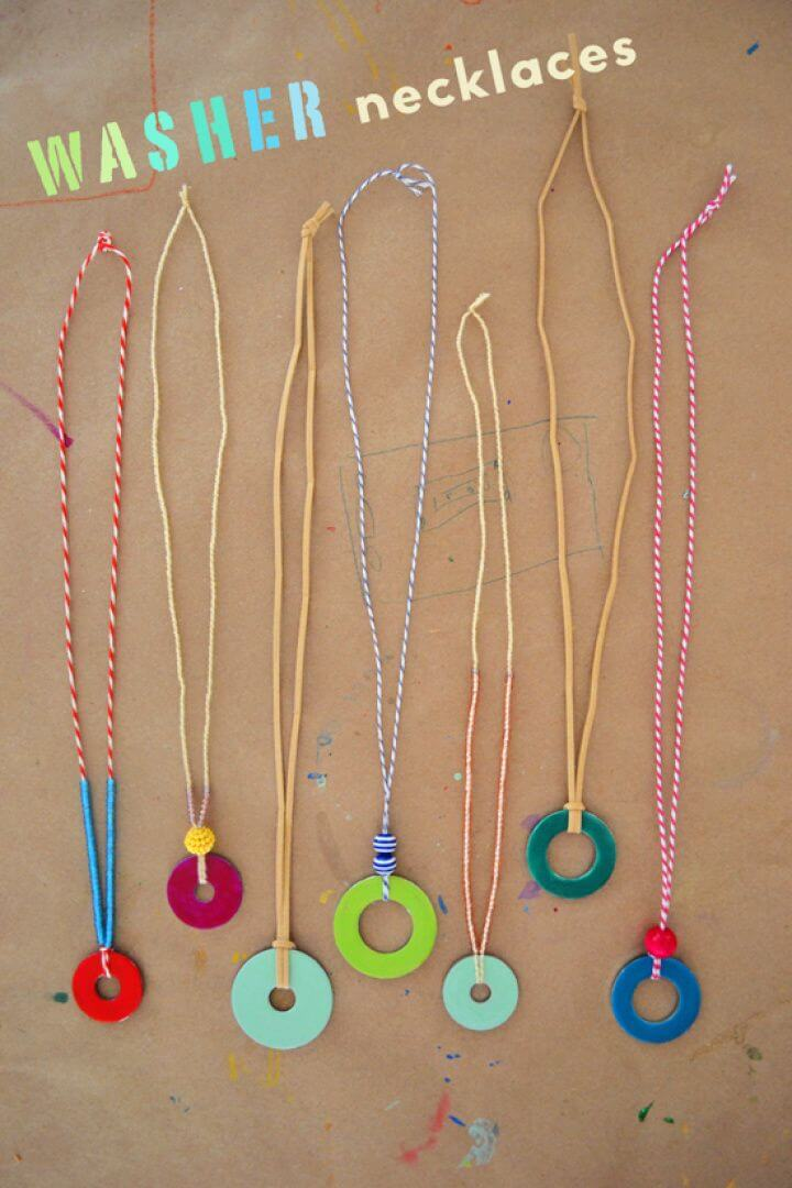 Beautiful DIY Washer Necklaces