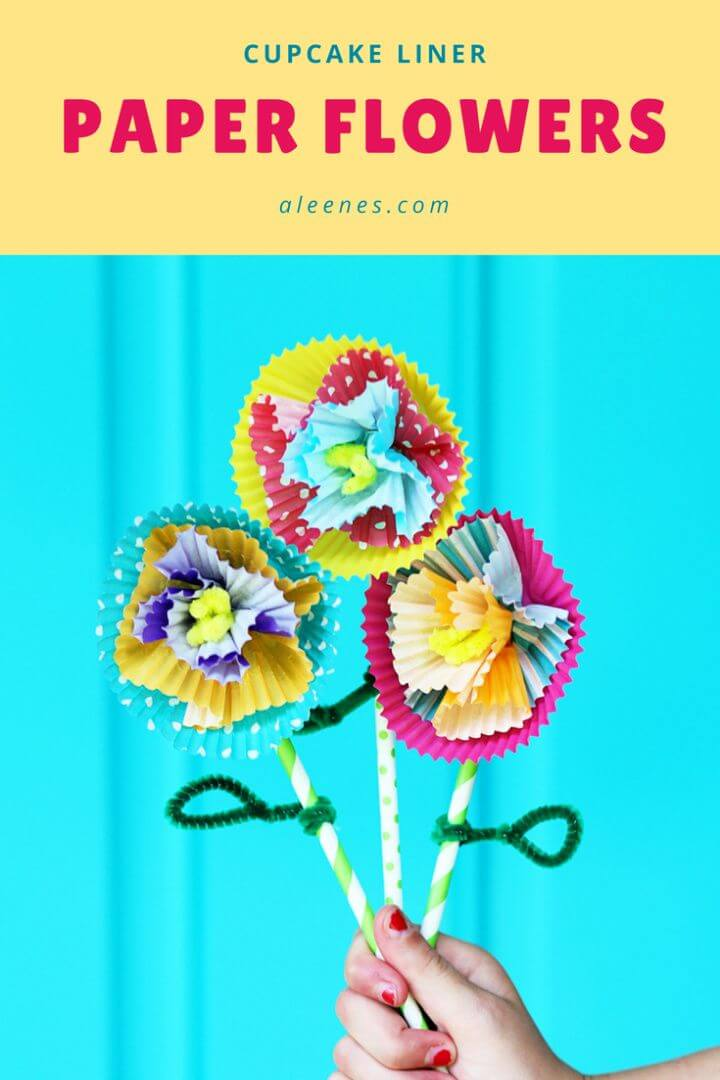 Build A DIY Cupcake Liner Flower Craft with School Tacky Glue