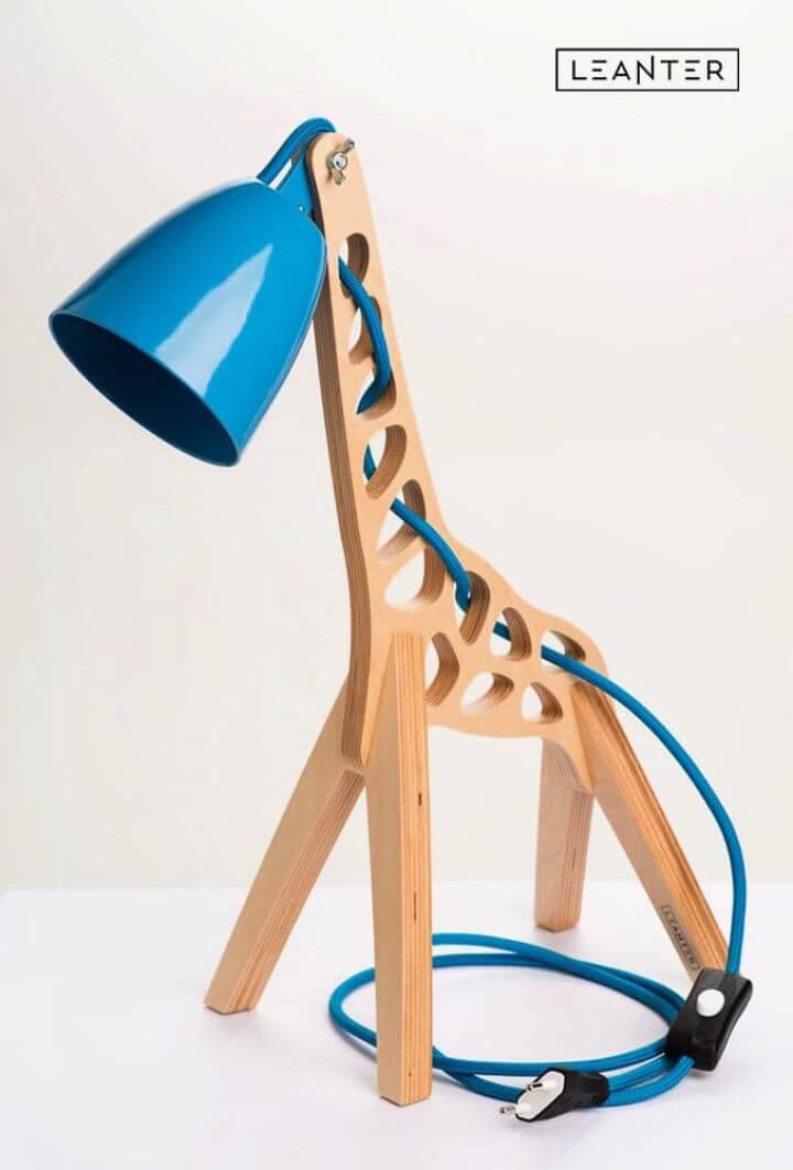 Build A DIY Handmade Giraffe Kids Desk Lamps