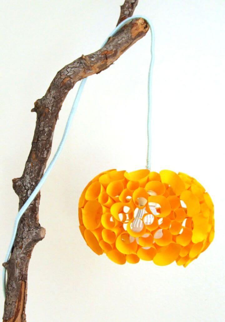 Coral Inspired DIY Paper Lamp