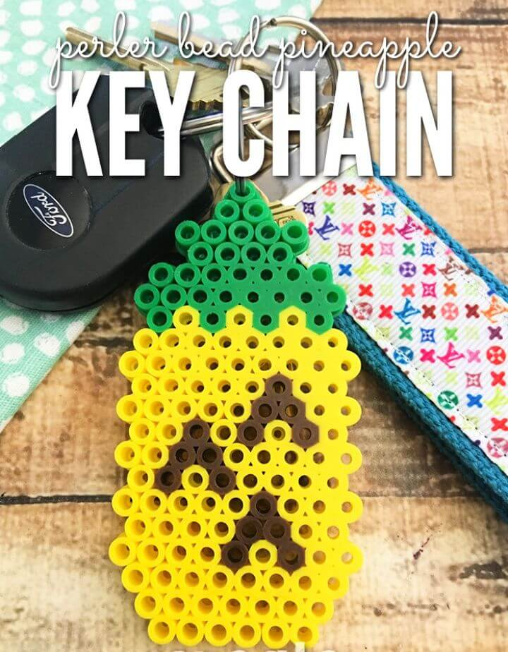 Create A DIY Perler Bead Pineapple Keychain
