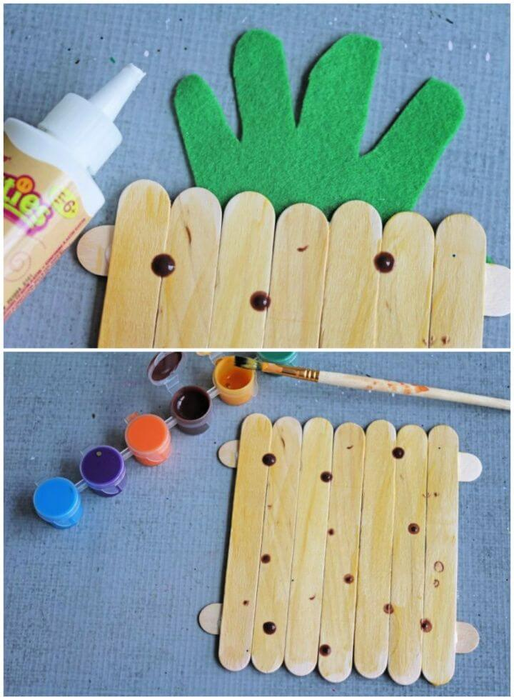 Create A DIY Popsicle Stick Pineapple Craft For Kids