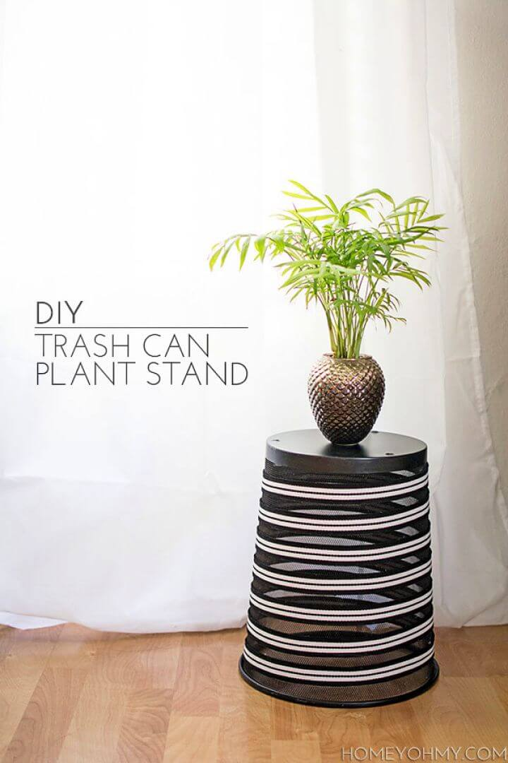 Create A DIY Trash Can Plant Stand