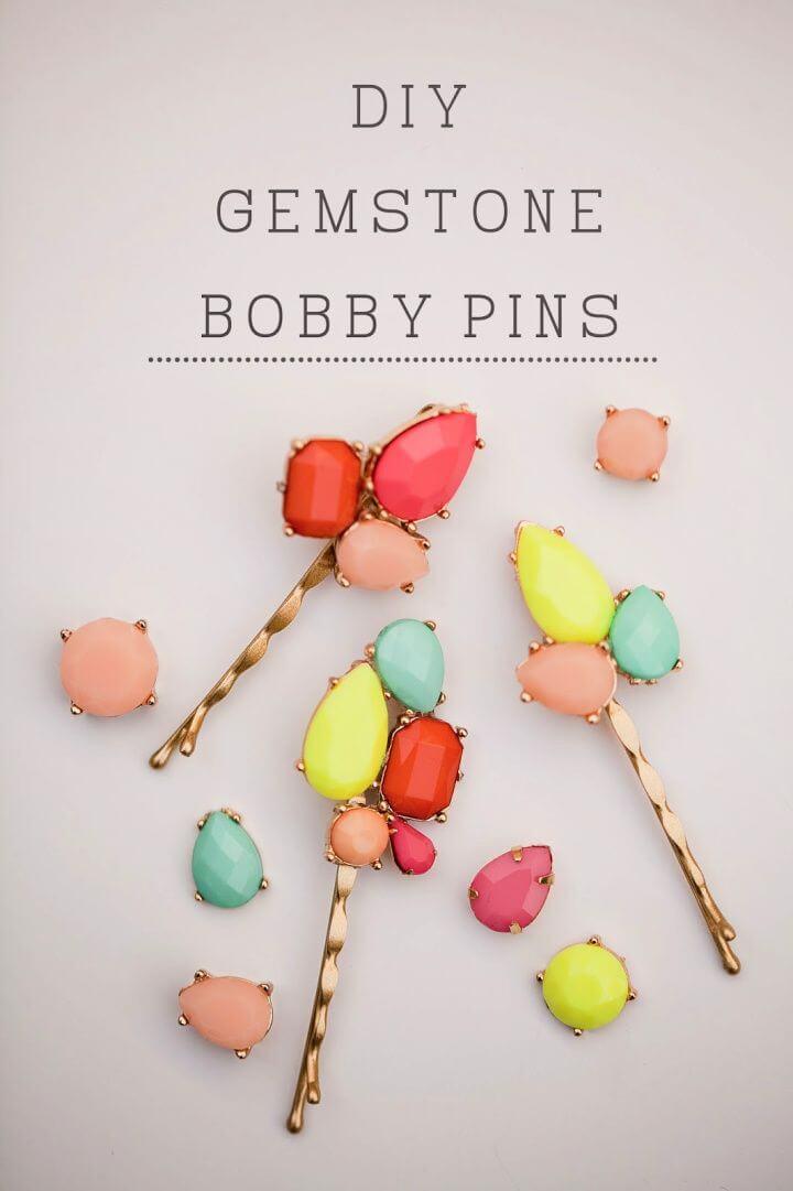 Create Your Own A DIY Gemstone Bobby Pins