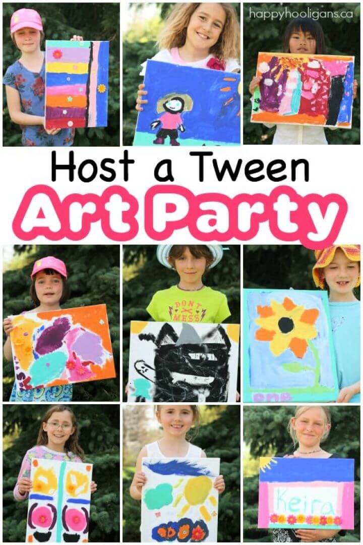 Create Your Own DIY Host A Tween Art Party