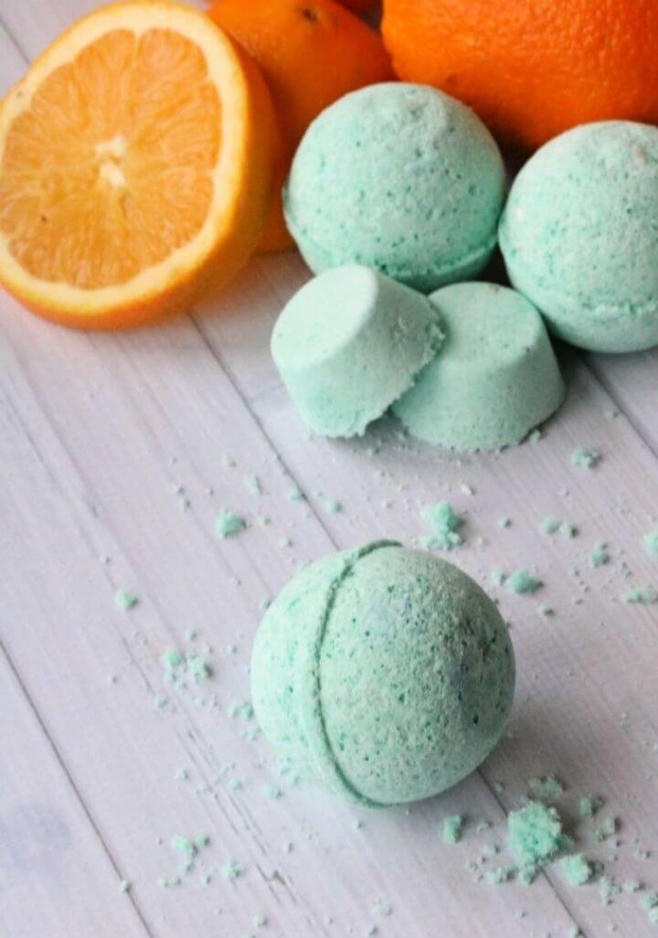 Cute DIY Citrus Bath Bombs