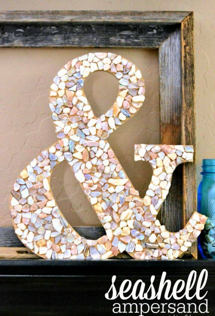 Cute DIY Seashell Ampersand
