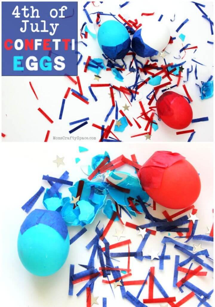 DIY 4th Of July Confetti Eggs