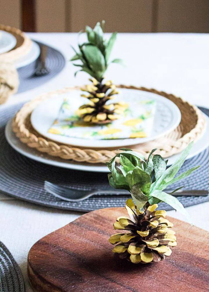DIY Pine Cone Pineapples Tutorial