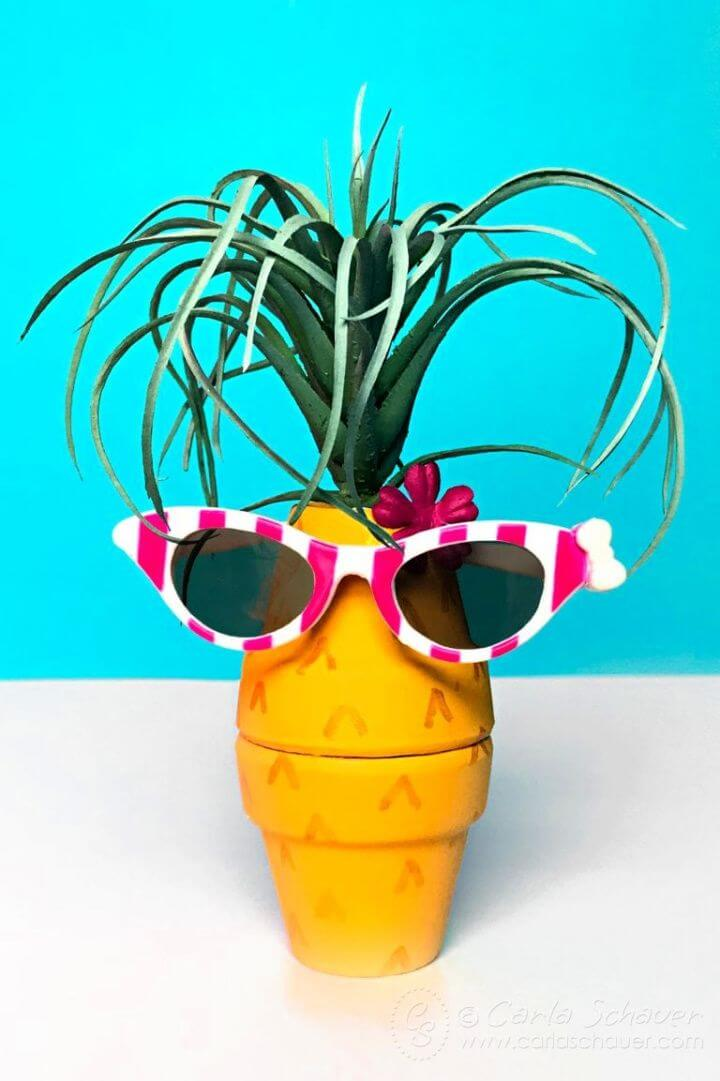 DIY Pineapple Craft With Clay Pots