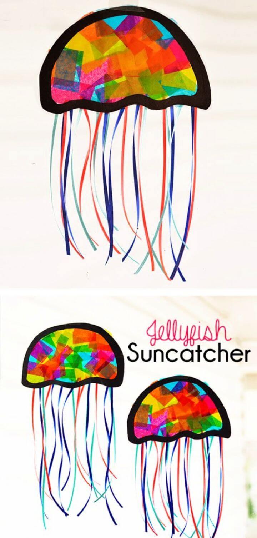 DIY Suncatcher Jellyfish Kids Craft