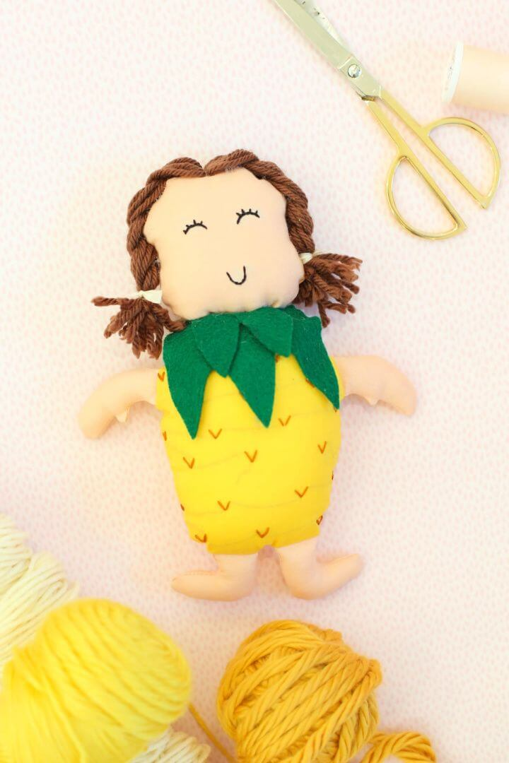 Easy And Cute DIY Pineapple Doll Tutorial