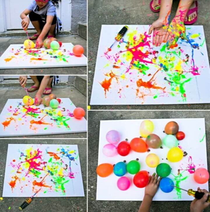 Easy DIY Balloon Splatter Painting With Tools