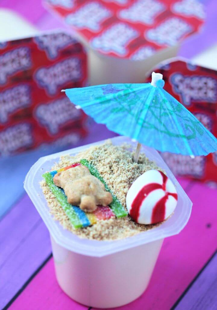 Easy DIY Beach Scene Pudding Cups Recipe