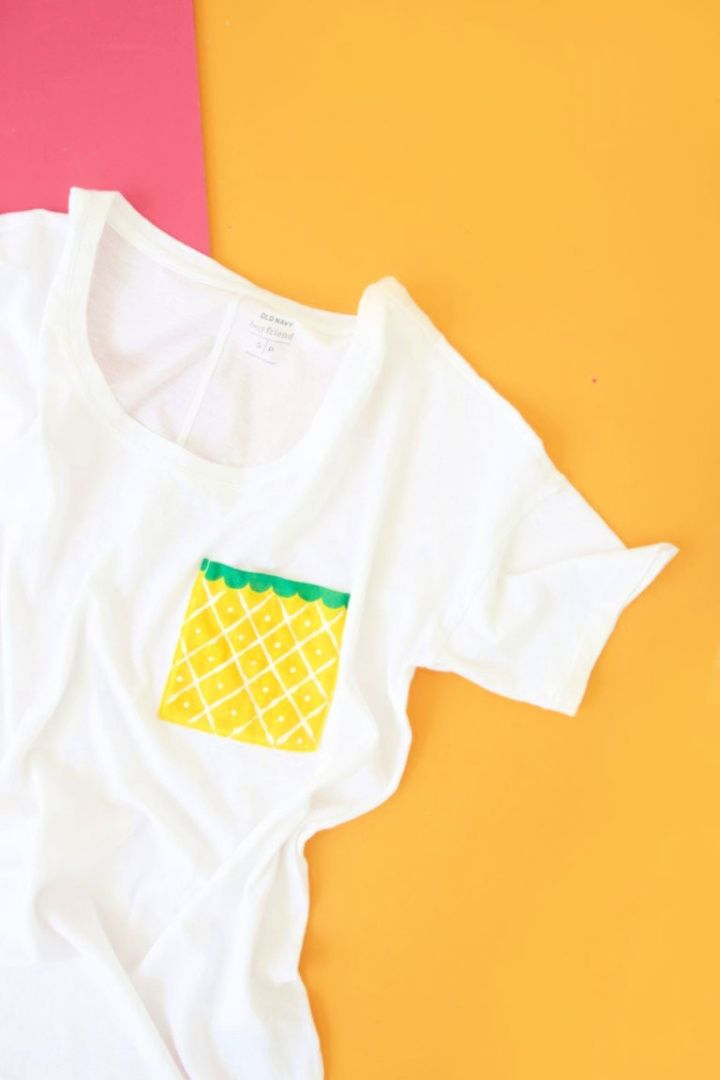 Easy DIY Fruit Pocket Tees