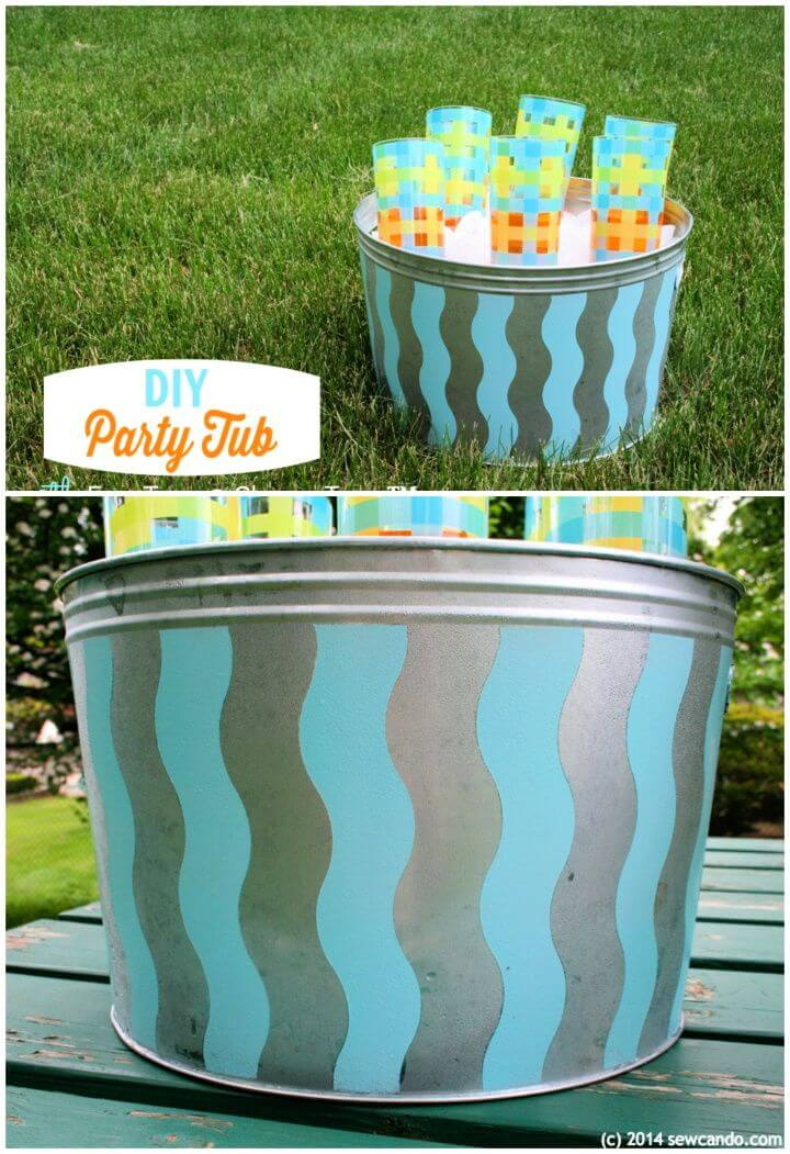 Easy DIY Painted Metal Party Tub Using FrogTape
