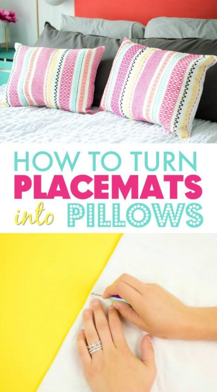 Easy DIY Pillows From Placemats