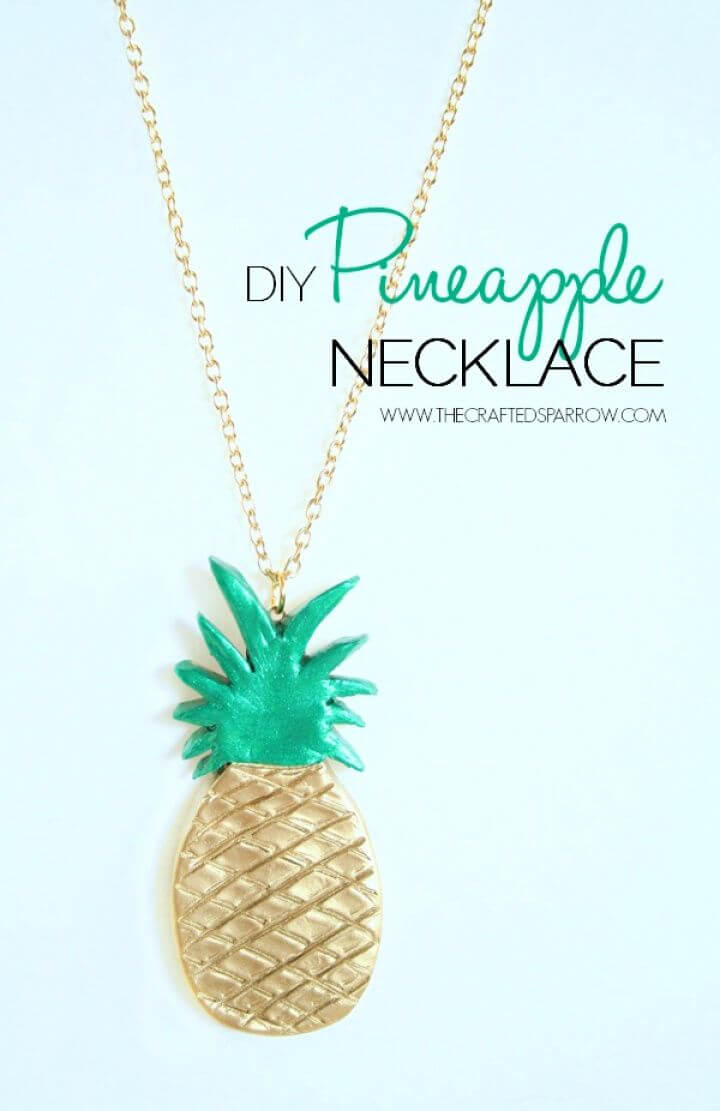 Easy DIY Pineapple Necklace