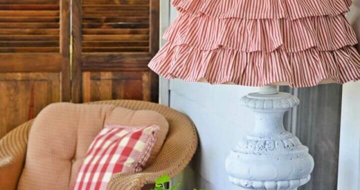 Easy DIY Ruffled Burlap Shade