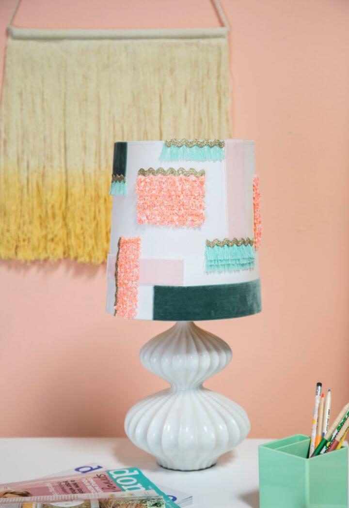 Easy DIY Textured Lamp Shade