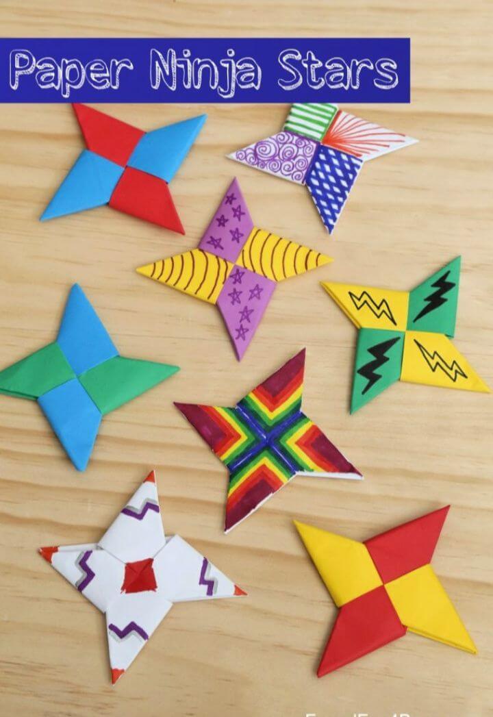 How To Create A Fold Paper Ninja Stars
