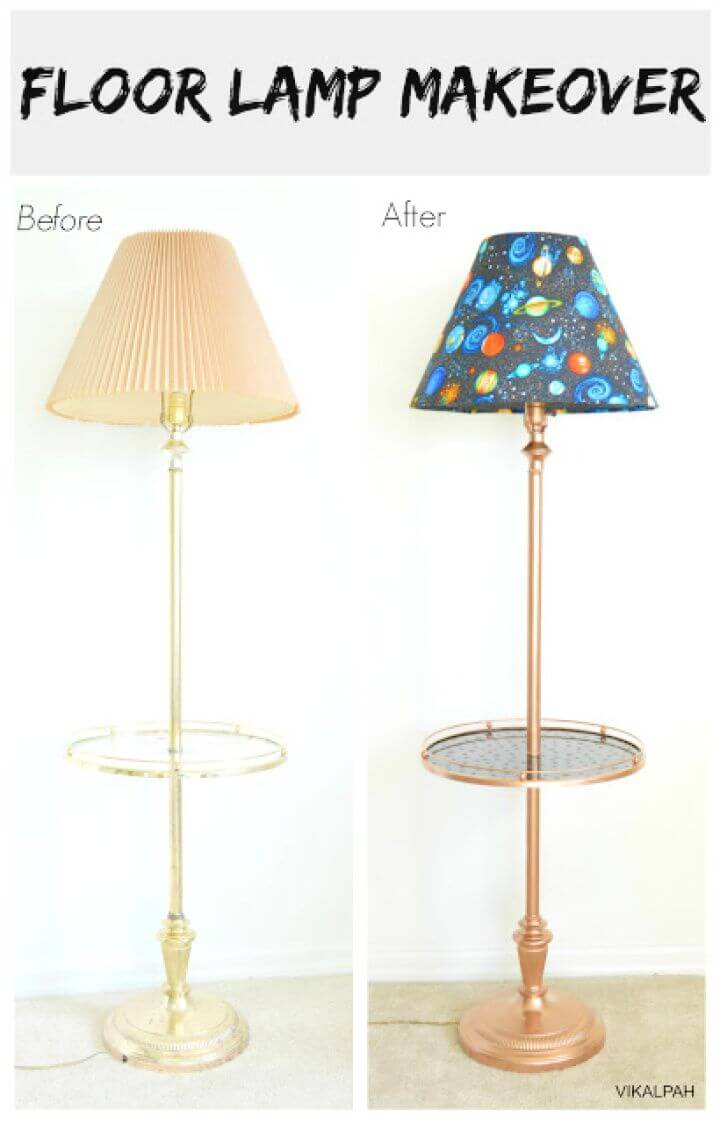 How To DIY Floor Lamp Makeover