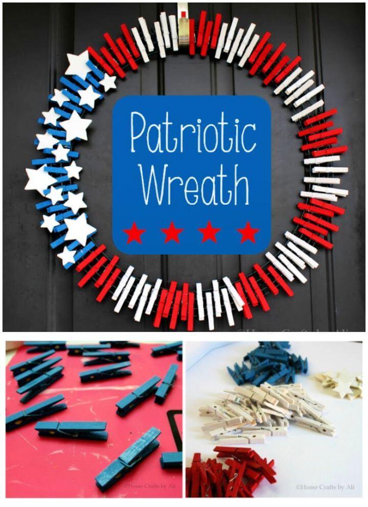 How To DIY Patriotic Wreath
