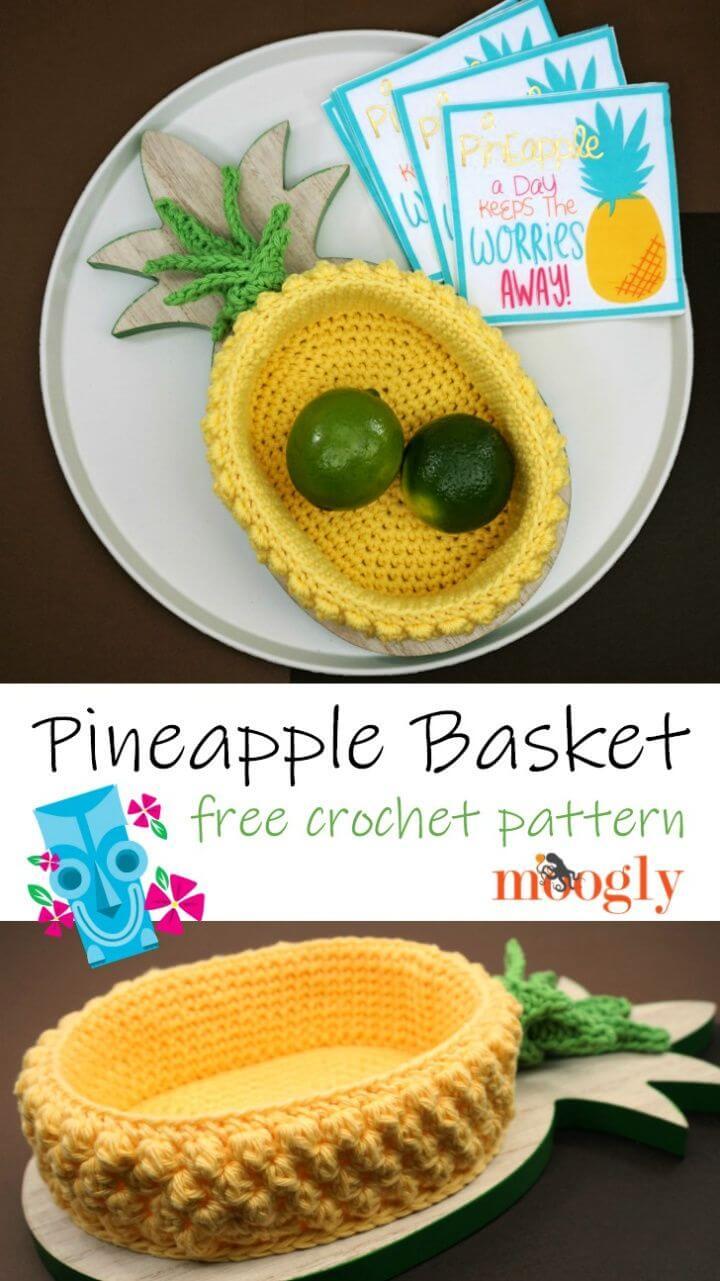 How To DIY Pineapple Basket Tutorial