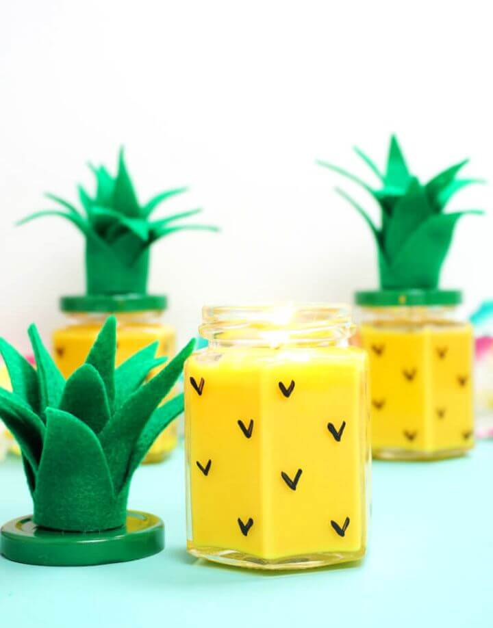 How To DIY Pineapple Candles