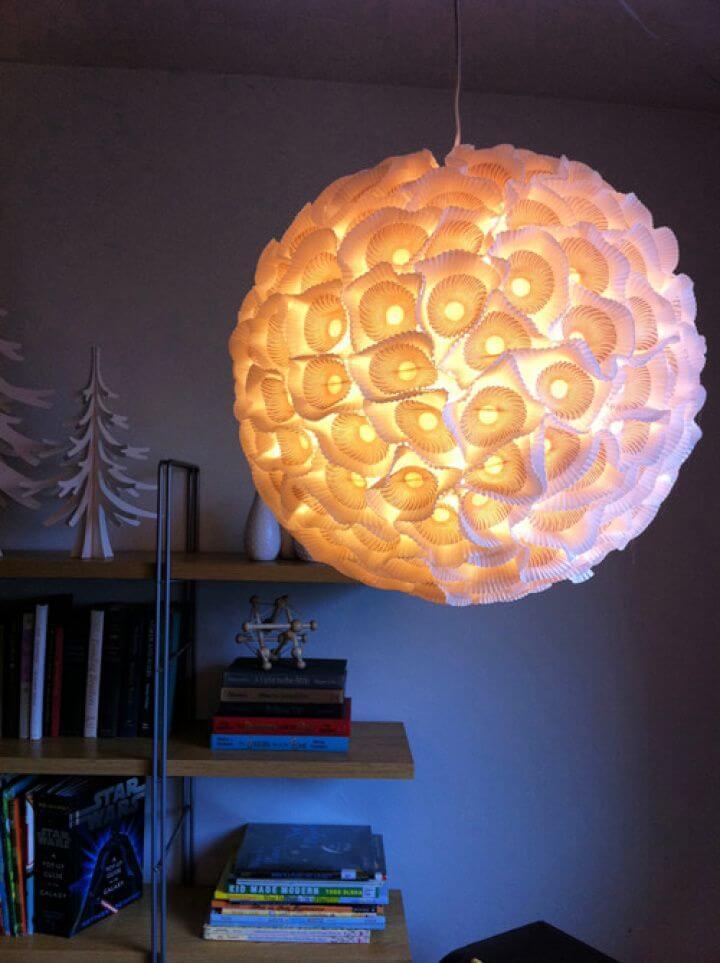 How To DIY Sculptural Paper Orb Lights