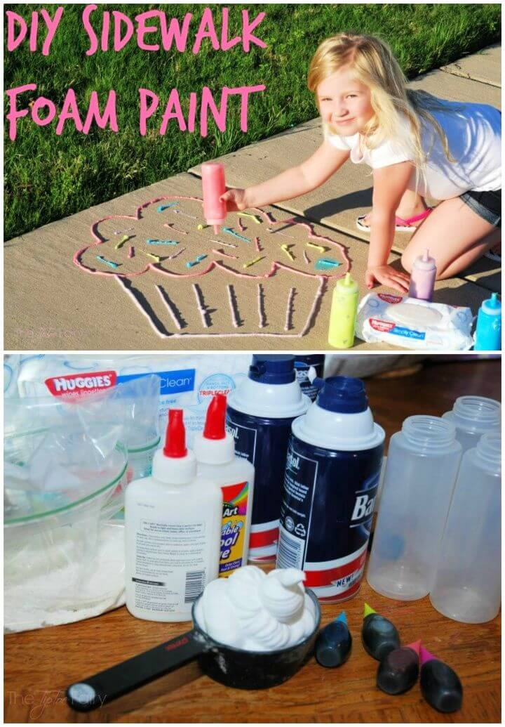 How To DIY Sidewalk Foam Paint