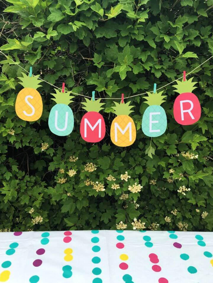 How To DIY Summer Banner Printable