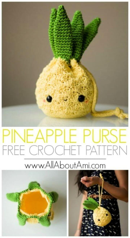 How To Make A DIY Amigurumi Pineapple Purse