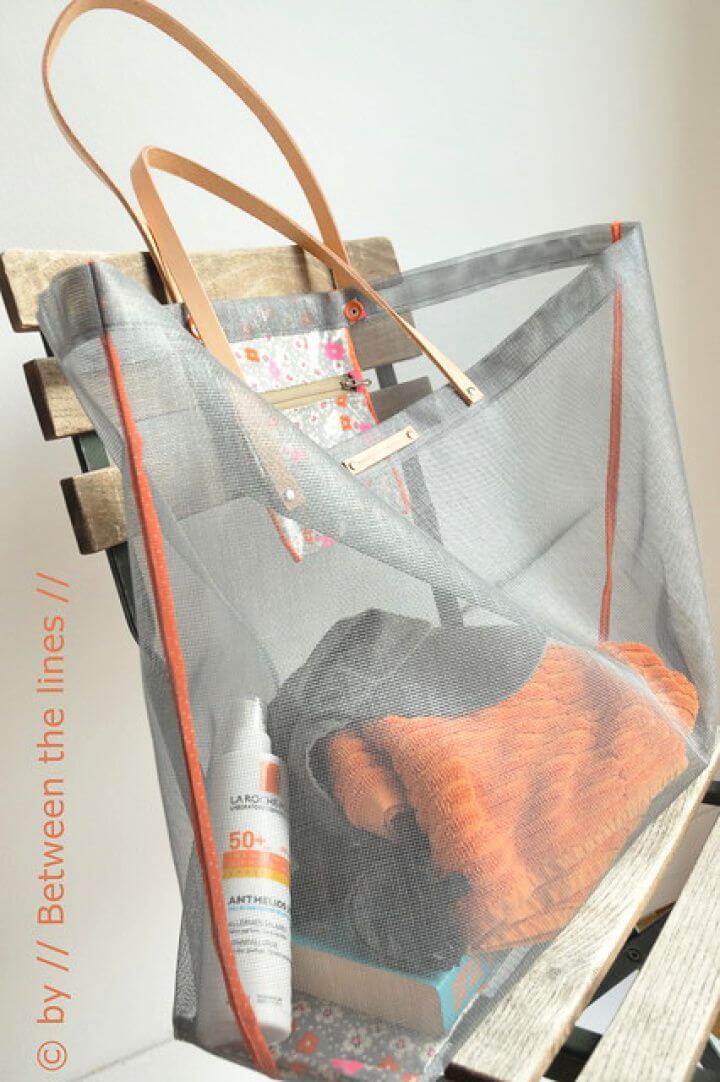 How To Make A DIY Mesh Beach Bag Tutorial