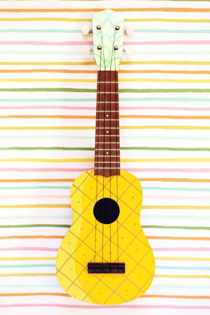 How To Make A DIY Painted Pineapple Ukulele