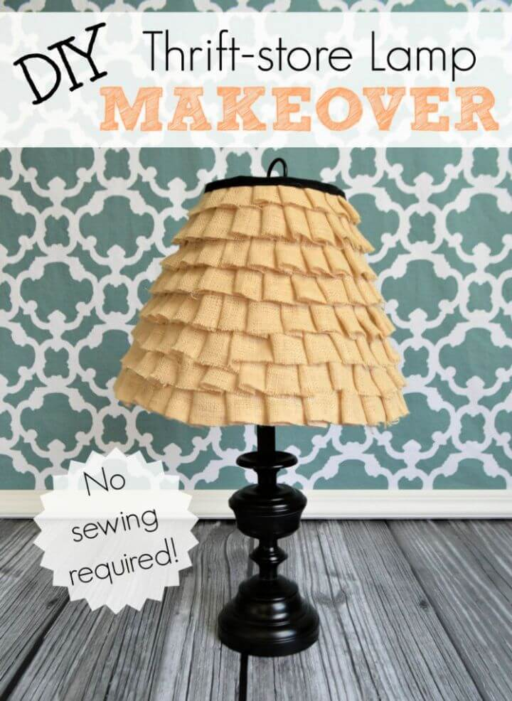 How To Make A DIY Ruffle Lamp