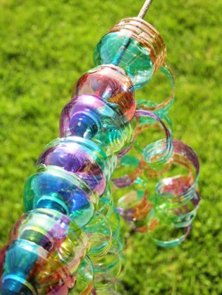 How To Make DIY Water Bottle Wind Spirals