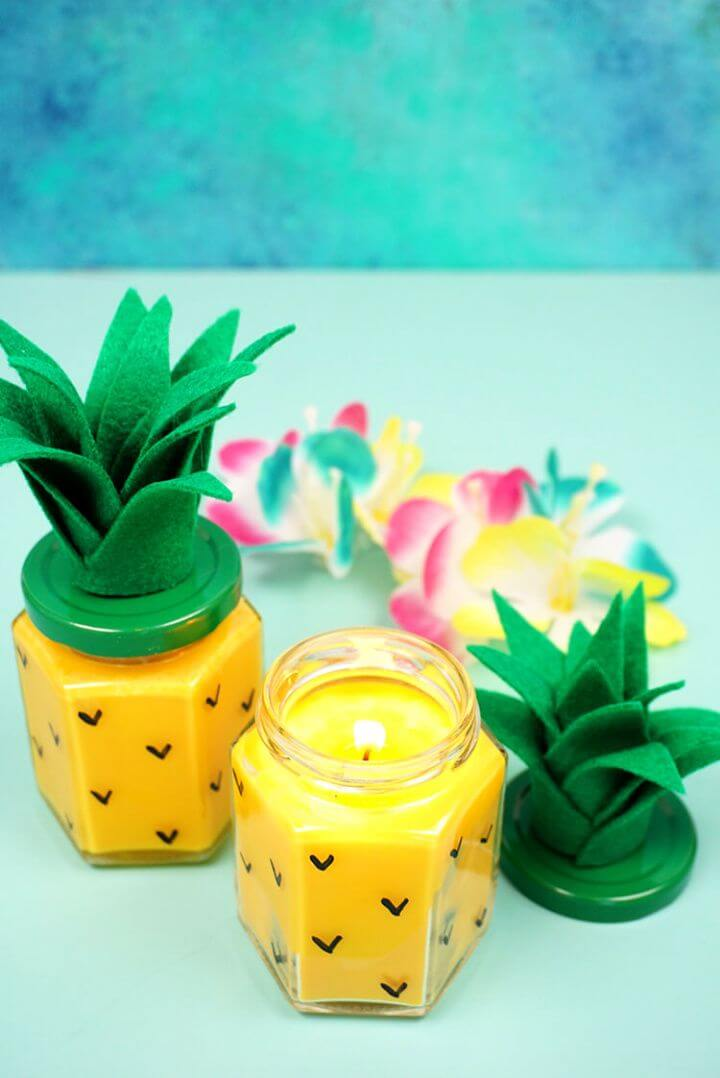 How To Make Your Own DIY Pineapple Candles