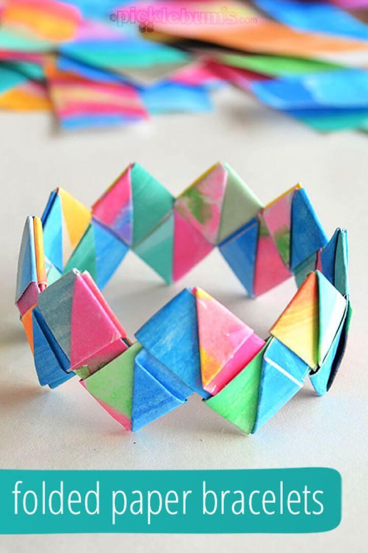 Make A DIY Folded Paper Bracelets