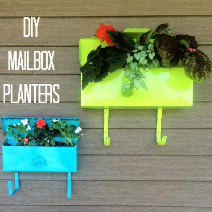 Make A DIY Mailbox Planters