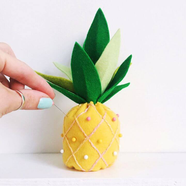 Make A DIY Pinapple Cushion With Sew Yeah