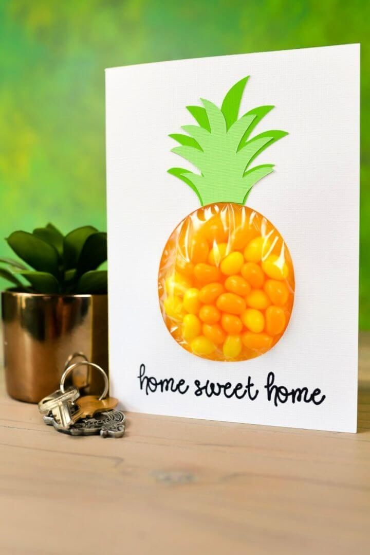 Make A DIY Pineapple Candy Pouch Card
